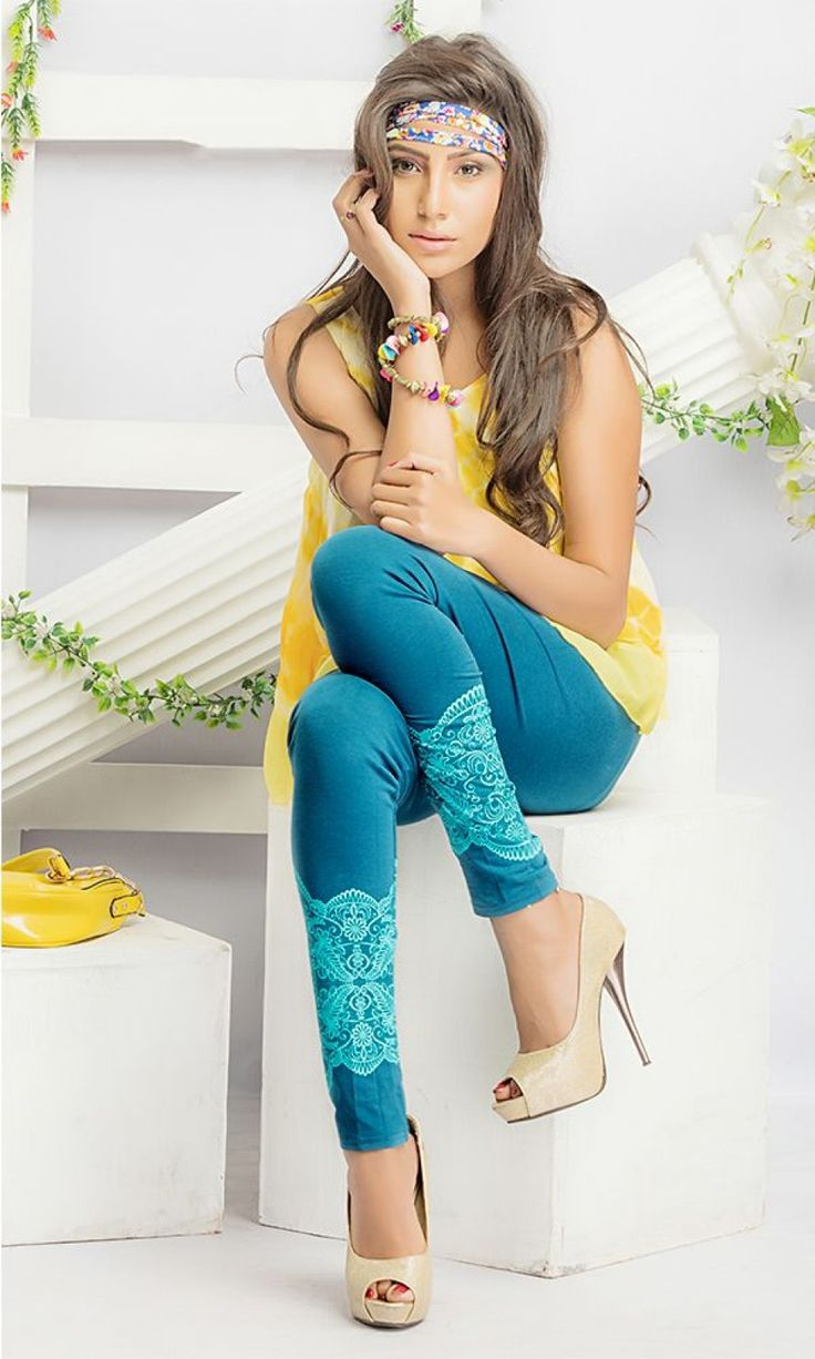Buy Dusty Printed Cotton Legging at Discounted Prices - LEPRPY603-DUSTY-BLUE