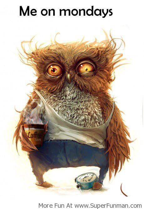 Ugh Monday mornings. . . . actually, every school day . . . . .