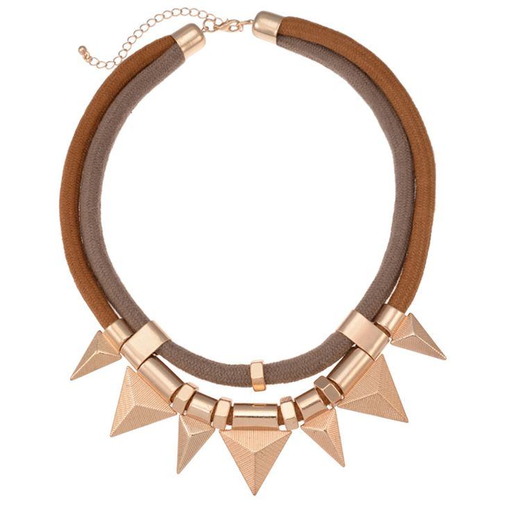 2014 New Fashion Triangle Zinc Alloy Statement Necklace For Women Rope Chain Choker Collar Necklaces & Pendants Vintage Jewelry-in Chain Necklaces from Jewelry on Aliexpress.com   Alibaba Group