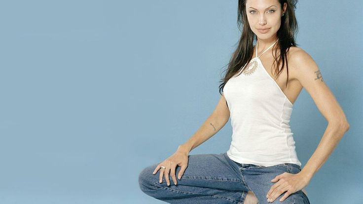 pictures of  angalina jolie in pants.com | the Angelina Jolie wallpaper named Angelina Jolie In Blue Jeans ...