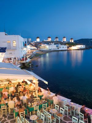 Mykonos, Greece. The stucco walls, blue shutters and classic furniture make the Tagoo Hotel feel about as authentic as a Greek yaya's home—with a posh roof- balcony pool. Sign me up!