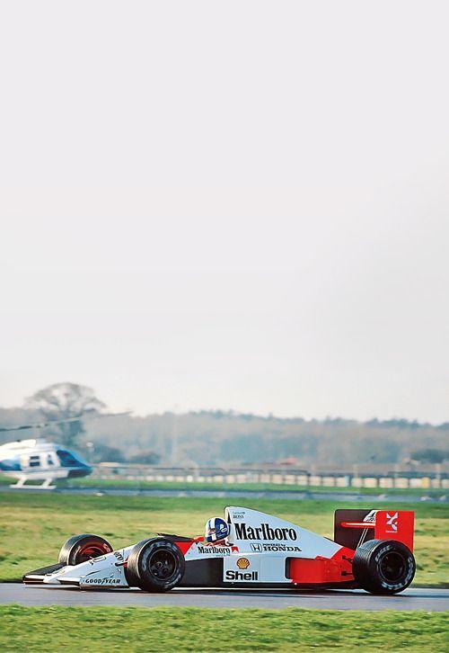 19-year-old David Coulthard testing McLaren MP4/5B.