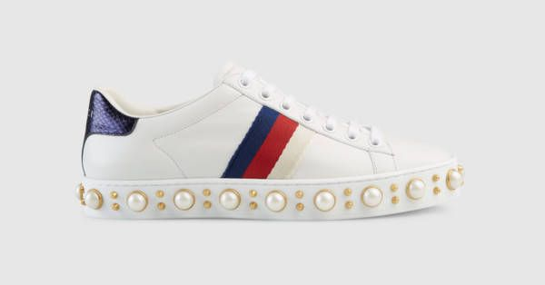 Ace studded sneaker - Gucci Women's Sneakers 454561A38G09075