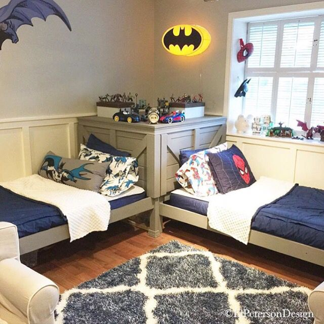 Adorable super hero room.