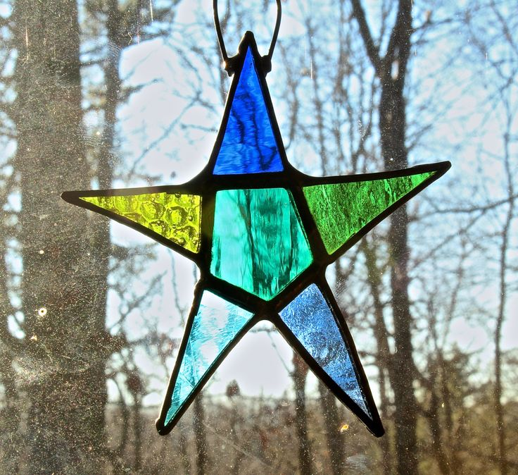 Stained Glass Star by ForgingAheadMetal on Etsy