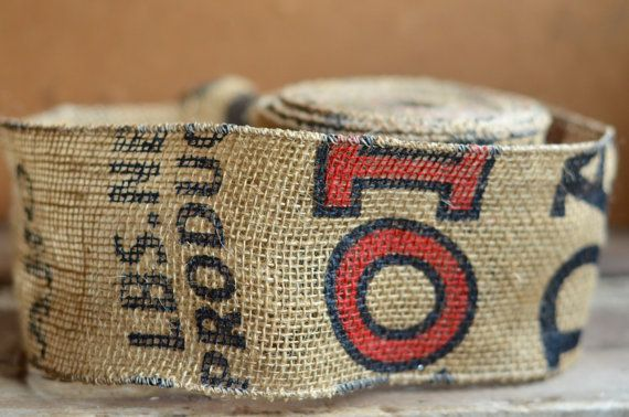 potato sack burlap ribbon by ShyMyrtle on Etsy
