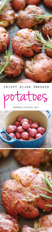 Crispy Dijon Smashed Potatoes   Recipe   So, Dishes and ...
