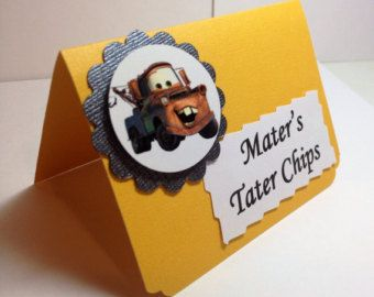 Disney Cars Food Card, Food Label, Tent Card, Cars Birthday Party Sign, DesignsbyAliA