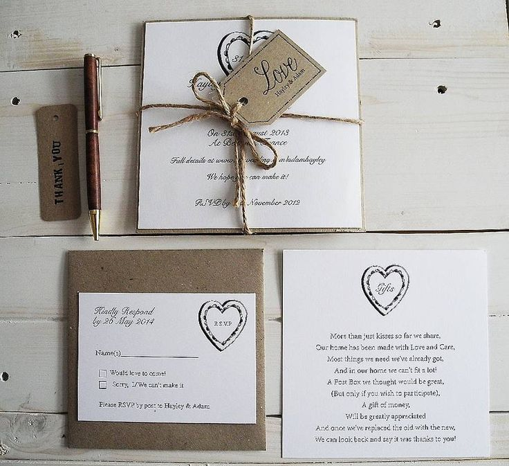 parcel and twine heart invitation by sweet words stationery | notonthehighstreet.com