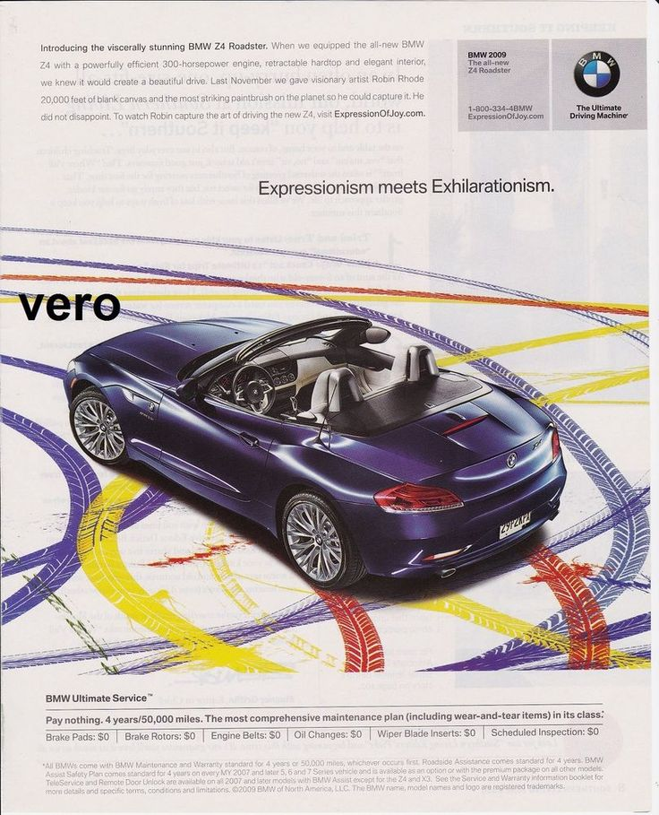 2009 Magazine Ad Bmw Z4 Roadster Introduction 2 Print