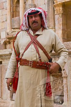 SuperStock - Jordan, Jerash, Native man with traditional ...