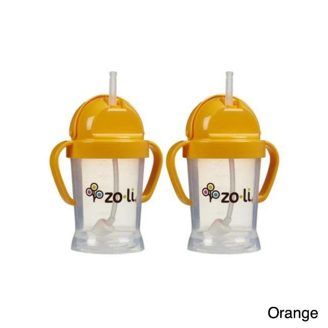 Zoli Bathroom Fixtures zoli baby bot 6-ounce straw sippy cup (pack of 2)zoli   baby
