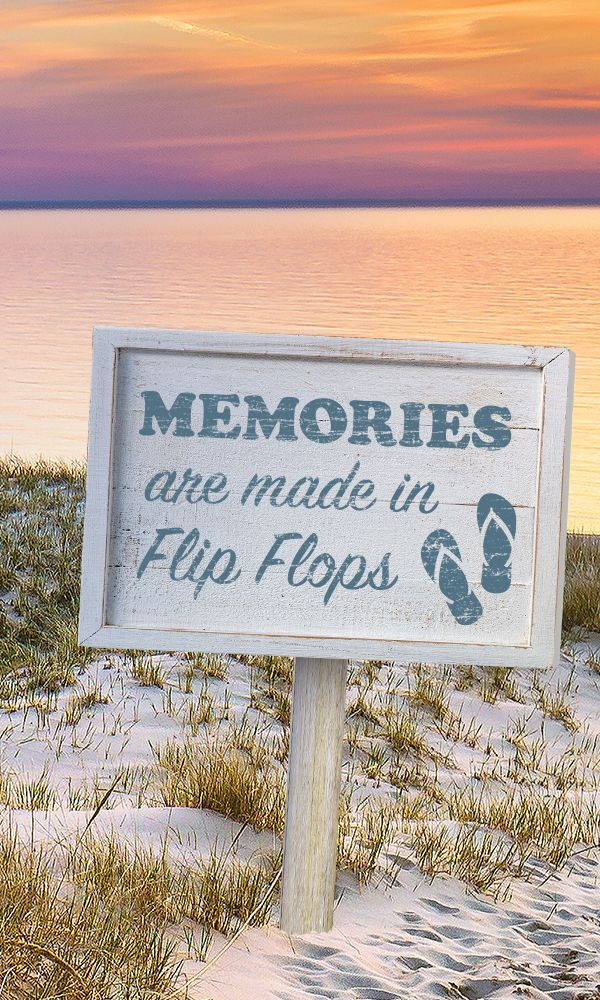 Today's menu for the beach: SANDwich, SUNdae, WATERmelon. And plenty of memories made in flip-flops.
