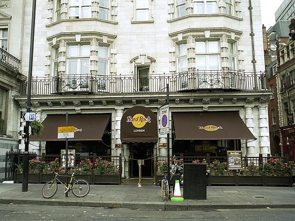 Hard Rock Cafe in London. The first ever built. I was there for the 25th Anniversary in 1995. Amazing.