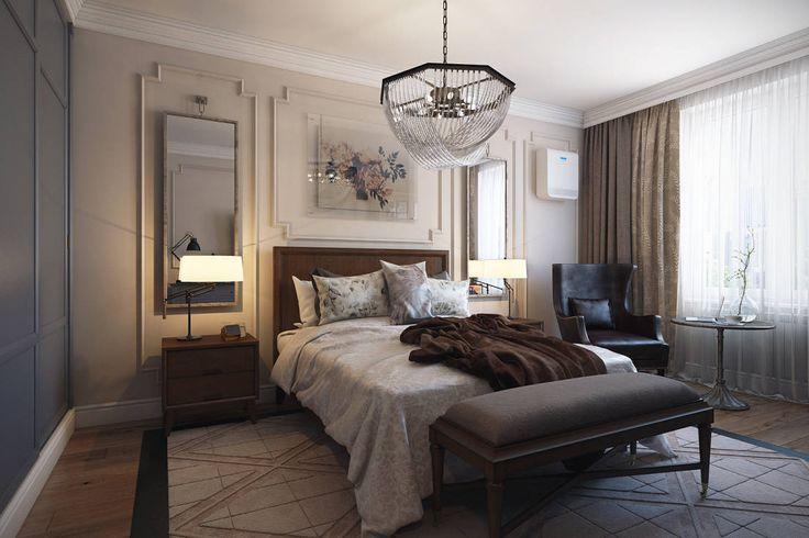 Красивые спальни в американском стиле
