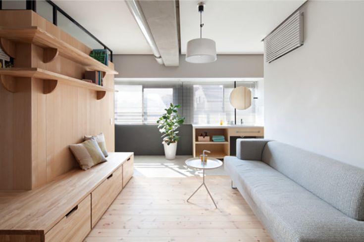 神奈川 20 坪開放式, wood & concrete