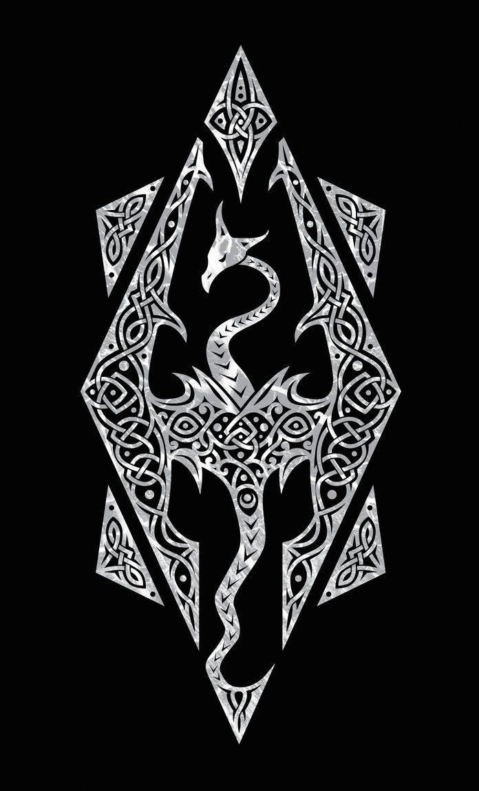 Skyrim Dragon Symbol Videogames Skyrim