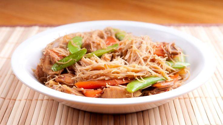 Almond chicken & noodle stir-fry
