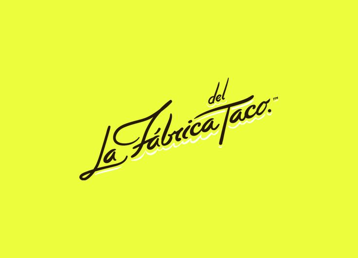 La Fábrica Del Taco 01 / branding by Anagrama. via The Fox is Black #branding #graphic_design