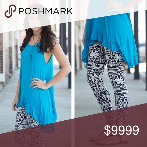 COMING SOON! Aztec Print Leggings Aztec print leggings.  These are one size. (Fits size 2-12 comfortably)  Fabric Content: 92% polyester, 5% spandex Pants Leggings