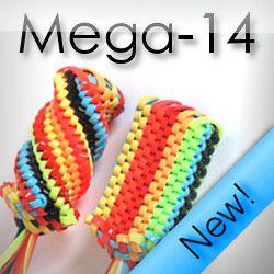 Mega-14 Scoubidoggle, instructions available at: http://scoubi-doggle.flaresoftware.com/styles/fourteenway/start.html