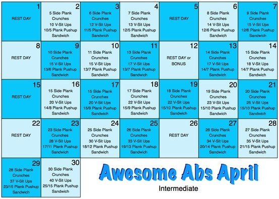 Now that I'm done with Mad Abs March, it's time to move on to this.  Includes exercises for abs, arms, and butt.: Time, Awesome Abs, Fit Exerci, Mad Abs, Abs Marching, Weights Loss Secret, Abs April, Includ Exercise, Workout