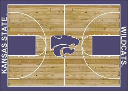 "Kansas State Wildcats 7' 8"" x 10' 9"" Home Court Area Rug (also smaller)"