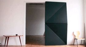 Origami Door Unfolds Open And Close With A Single Touch [Video] - PSFK