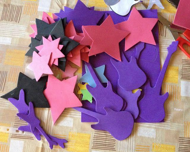 Compleanno a tema Rock - Rock star Music party - strumenti musicali fai da te - handmade e riciclo