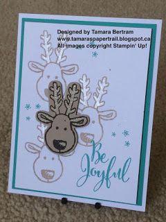Tamara's Paper Trail: Cookie Cutter Reindeer