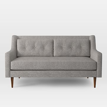 "Crosby Sofa, 68"" Loveseat, Deco Weave, Feather Gray"