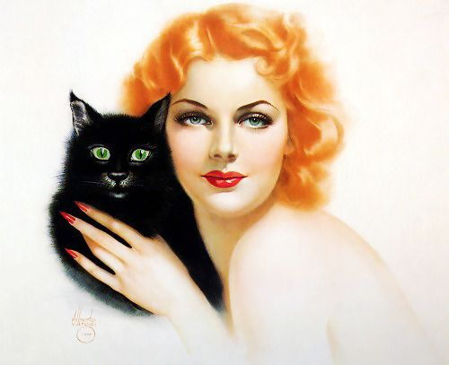 gravesandghouls: 31 Days of Halloween pin-ups 7/31 —> Illustration by Alberto Vargas, 1929