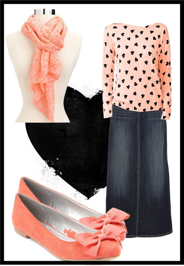 """""""Peach/tangerine."""" by tabitha-patterson ❤ liked on Polyvore"""