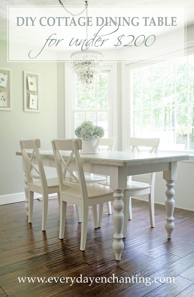 Learn How To Build This Easy Cottage Dining Table From @nina_hendrick!