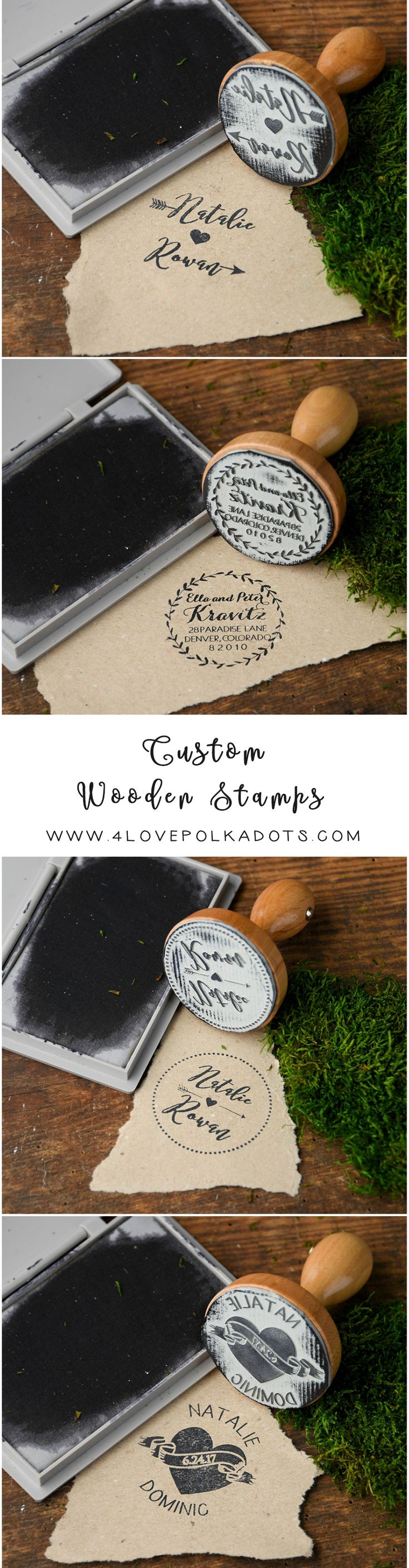 Custom Stamps for rustic country wedding