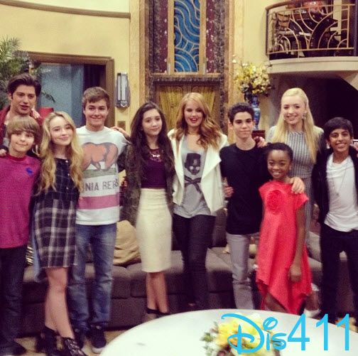 "the cast of "" Jessie "" with Girl meets world cast (GMW)"