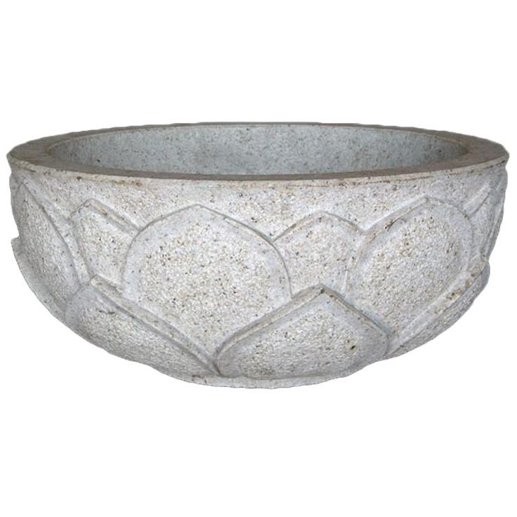 1stdibs Planter / Jardiniere – Carved Lotus Bowl Japanese Japonisme Stone