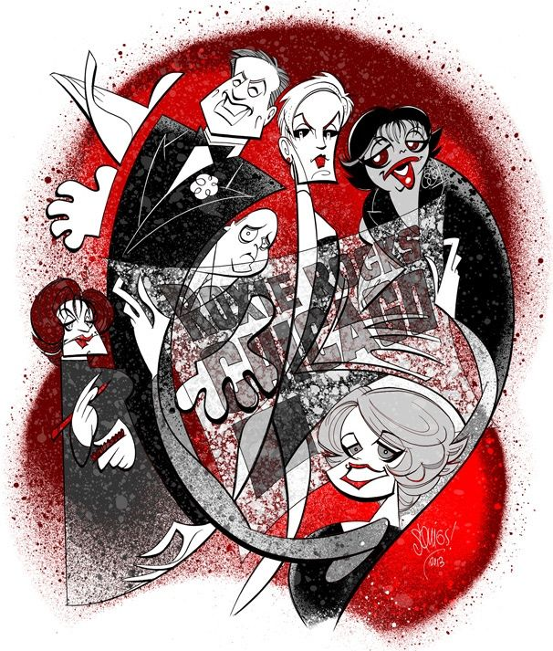 Amy Spanger, Christopher Sieber & the cast of Broadway's CHICAGO get the Squigs treatment