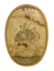 7072 - 19th C. Persian Watercolor Painting on Paper Autumn Estate Auction | Official Kaminski Auctions