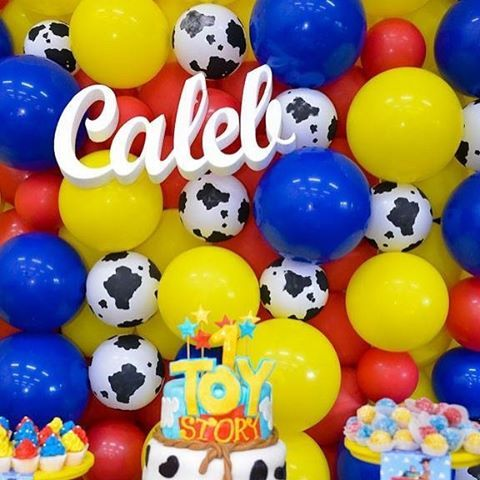 Toy story inspired #balloonwall #sydneyballoons #quirkyballoons #toystoryparty