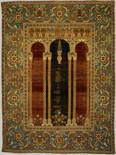 16th century ottoman court prayer rug