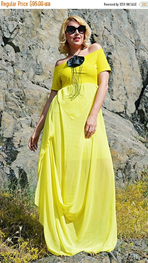 Just launched! ON SALE Yellow Summer Dress ,Off Shoulder Dress, Chiffon Maxi Dress, TDK264, Plus Size Dress,Yellow Long Dress, Wildflower https://www.etsy.com/listing/536640995/on-sale-yellow-summer-dress-off-shoulder?utm_campaign=crowdfire&utm_content=crowdfire&utm_medium=social&utm_source=pinterest
