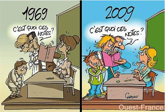 nos parents respectaient les enseignants!