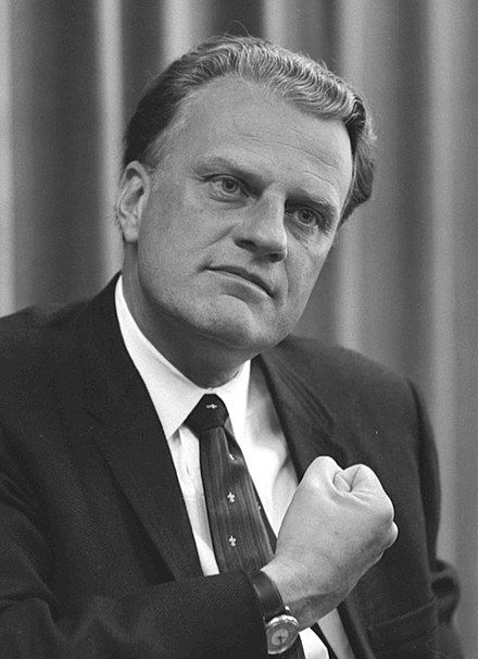 William Franklin Graham Jr. KBE (born 1918), known as Billy Graham, is an American Christian evangelist, who became well known internationally after 1949. He is widely regarded as the most influential preacher of the 20th century. He held large indoor and outdoor rallies; sermons were broadcast on radio and television. In his six decades of television, he is principally known for hosting the annual Billy Graham Crusades, which he began in 1947, concluding in 2005, at the time of his…