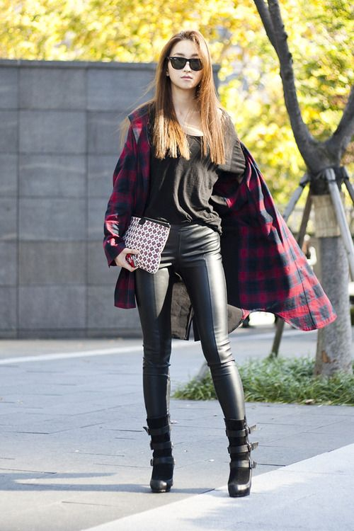Streetstyle: Park Jisoo at Seoul Fashion Week S/S 2014 by Lia