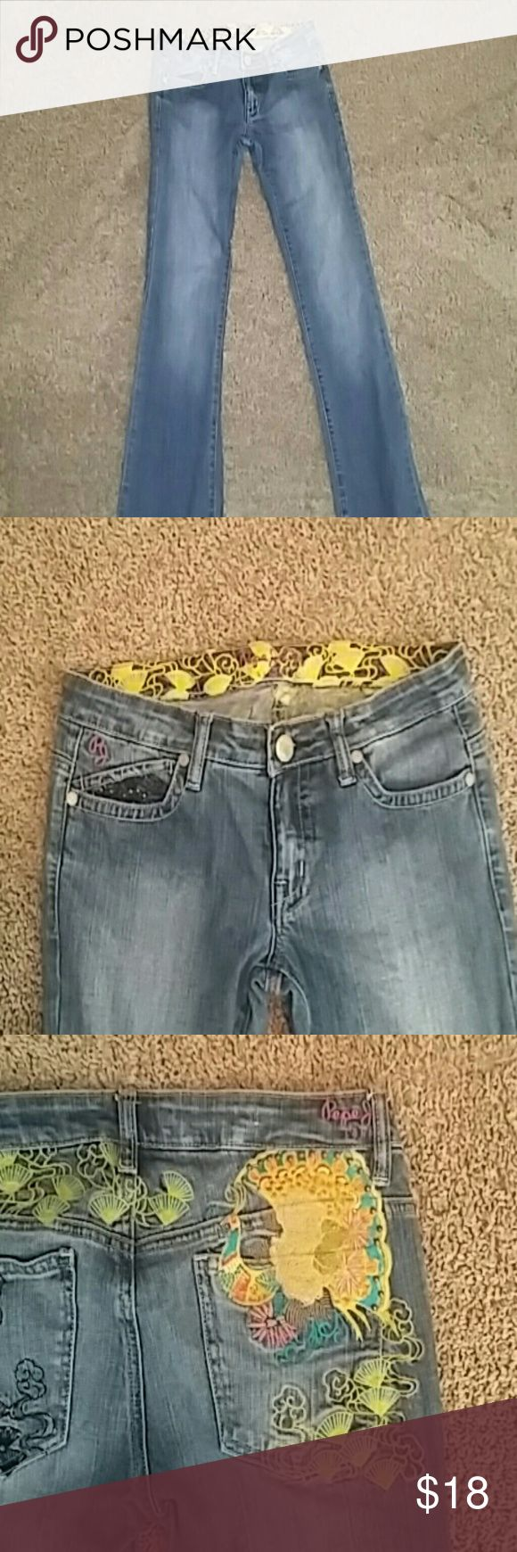 Pepe London jeans EUC!! Very colorful Pepe London jeans Pepe Jeans Jeans