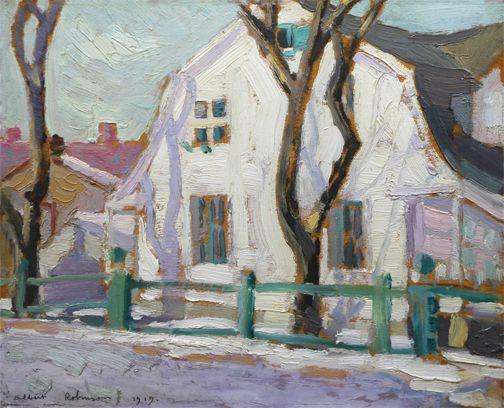 Albert H. Robinson - Spring St. Genevieve PQ 8.5 x 10.5 Oil on panel (1919)