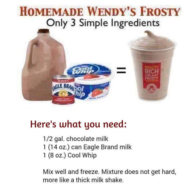 Wendy's Smoothie Wendys frosty, Eagle brand milk, Milk