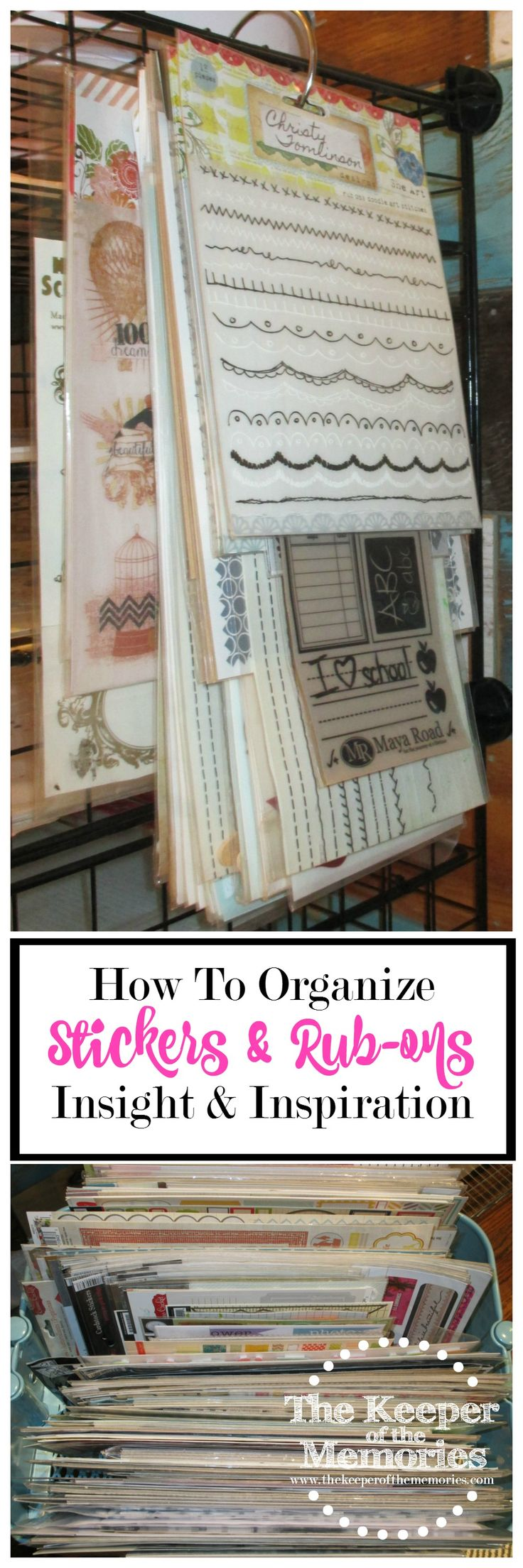 Welcome to week 11 of the 52 Weeks to an Organized Workspace challenge. This week we're organizing our stickers and rub-ons. If it's on a sheet and it's not a letter, let's figure out what to do with it. Are you with me?