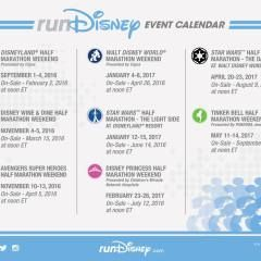 run disney calendar 2017-2018